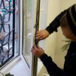 замена уплотнителя в окне