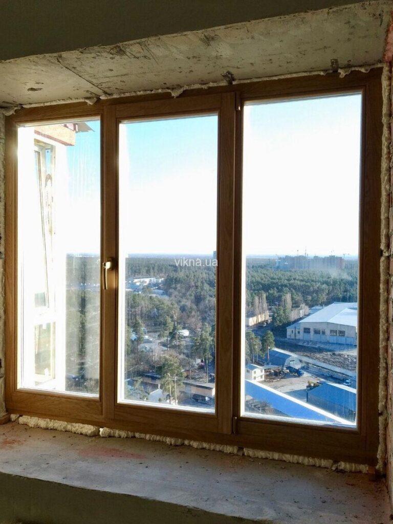 окна из дуба для квартиры