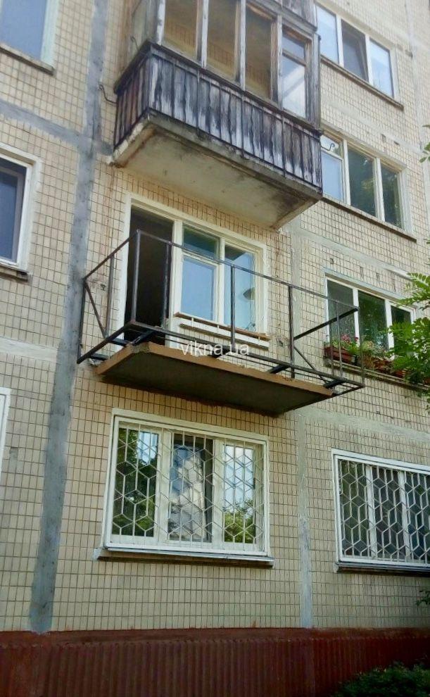вынос балкона по плите